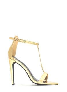 I-Catching Strappy Reptile Heels