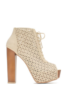 Wood U Be Mine Faux Leather Booties