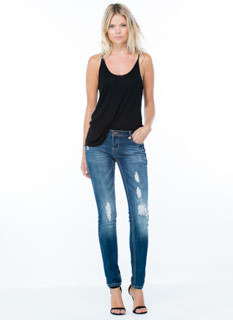 Get Low-Rise Distressed Skinny Jeans