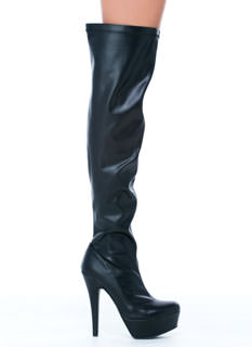 Power High Faux Leather Boots