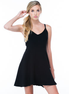 Crossing Paths Skater Dress