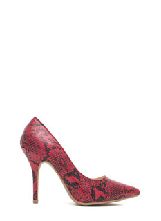 Snake Up On You Scaled Pointy Heels