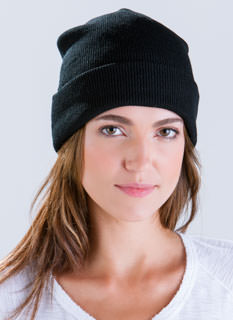 Warm And Fuzzy Solid Knit Beanie