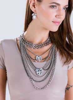 Link Up Draped Chain Necklace Set