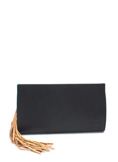 Double Tassel Rectangular Clutch