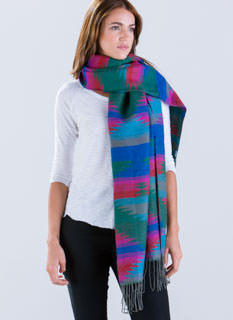 Southwest Trails Fringed Scarf