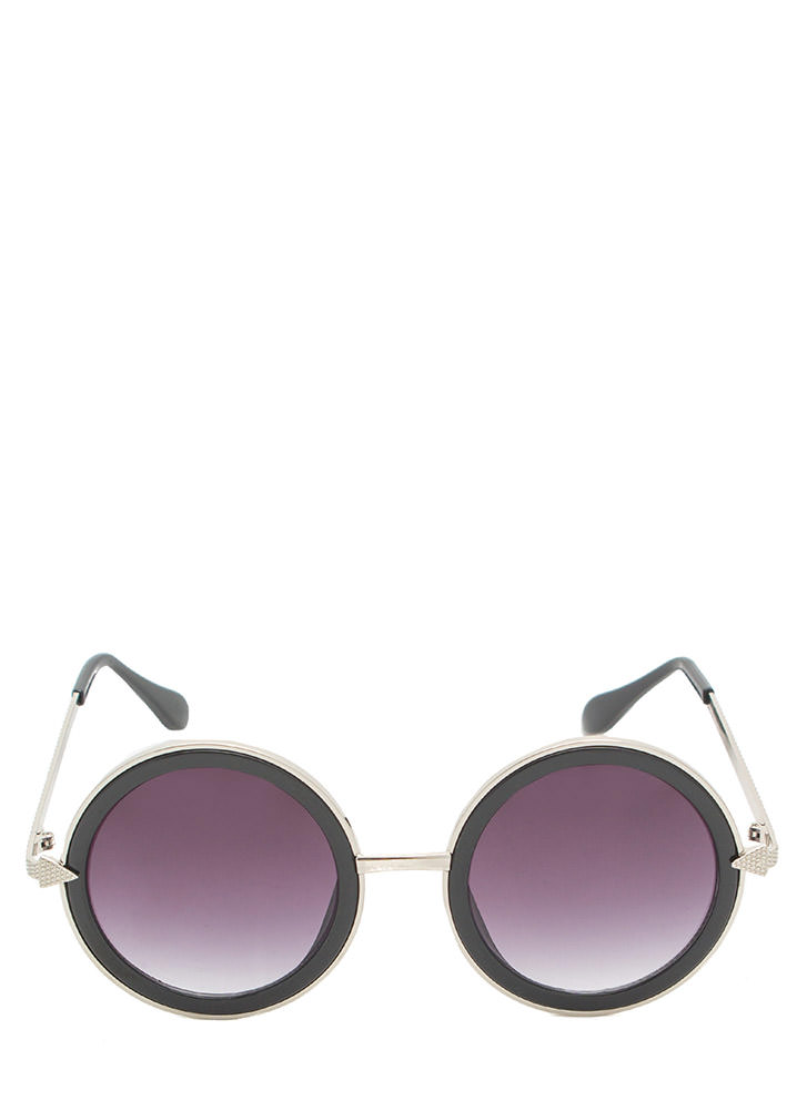 Point It Out Round Arrow Sunglasses