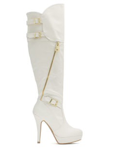 Zip Club Over-The-Knee Boots