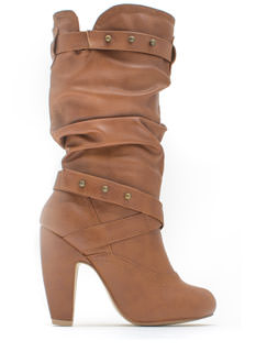 Slouch Factor Faux Leather Boots