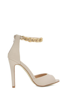 Chain Of Thought Ankle Strap Heels