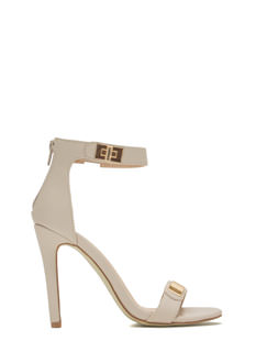 Twist Lock Of Fate Ankle Strap Heels