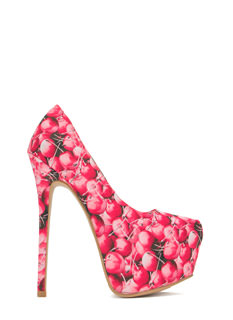 Fruit Salad Platform Heels