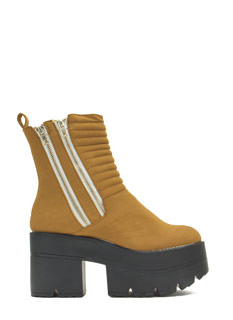 Lug Lyfe Zippered Platform Boots