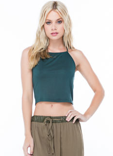 Come Up Keyhole Cropped Tank
