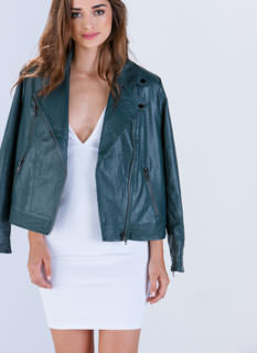Moto Dreams Faux Leather Jacket