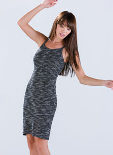 Blazin' Blizzard Marled Knit Dress