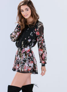 Bloom Service Split Floral Romper