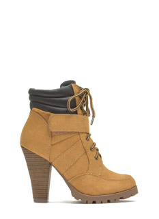 Hike Hype Chunky Faux Suede Boots