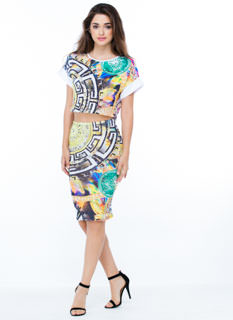 Medal Of Chic Printed Pencil Skirt
