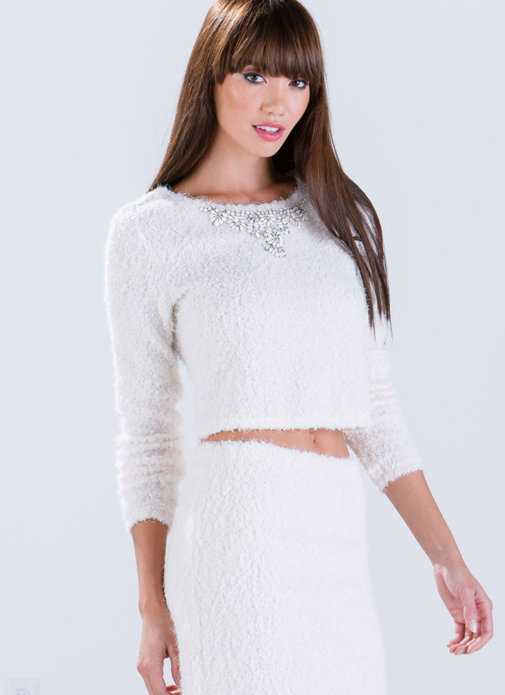 Haute Fuzz Cropped Sweater