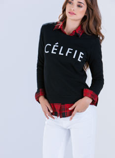 Me My-Celfie & I Graphic Sweatshirt