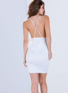 Take The Plunge Crossback Dress