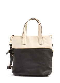 Zippy Accent Shrunken Tote