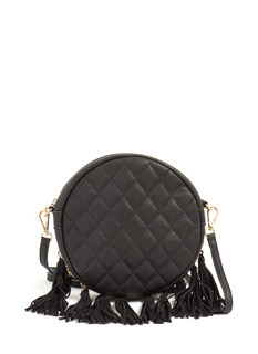Tassel Time Round Quilted Bag