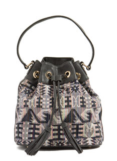 Weave It To Me Tribal Bucket Bag