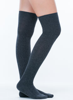 Premium Cable Knit Thigh-High Socks