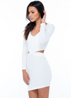 Cross Cut Bodycon Dress