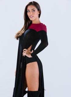 2 Good 2 Be True Slit Sweater Maxi