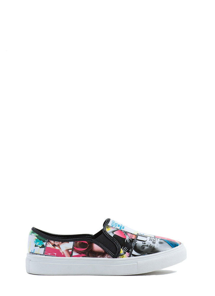 Cover Story Glossy Slip-On Sneakers
