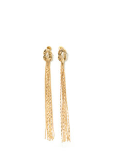 Knot Ur Type Fringe Earrings