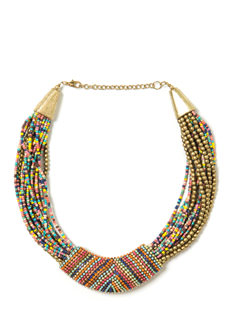 Beaded Babe Tribal Necklace
