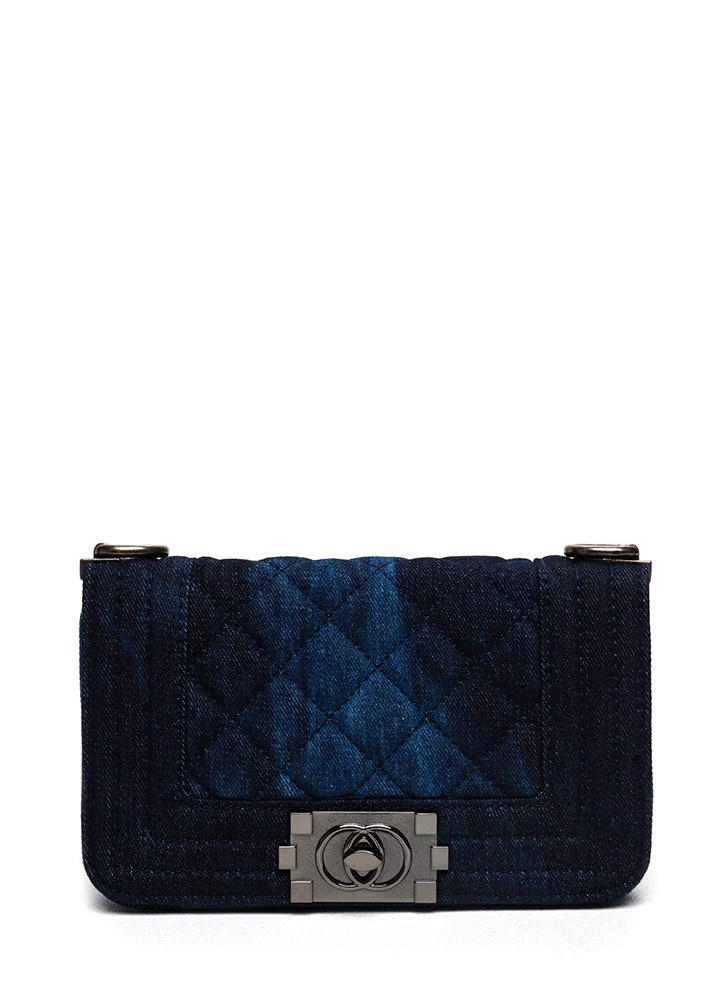 Too Cool Quilted Denim Handbag