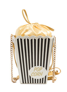 Pass The Popcorn Faux Leather Clutch