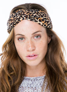 Lady Leopard Extra Wide Headband