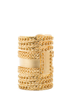 Stacked Chains Textured Cuff