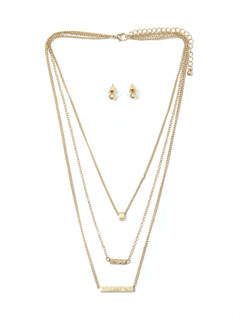All Hardware Layered Necklace Set