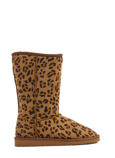 Live In Leopard Faux Suede Boots