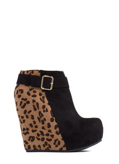 Diamond Pane Leopard Cut-Out Heels