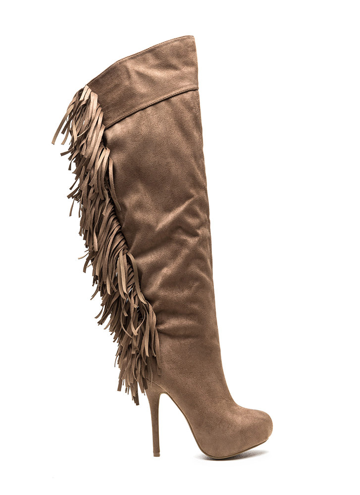 Fringe Benefits Heeled Boots