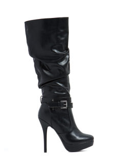 Slouch It Faux Leather Boots