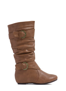Hit The Road Faux Leather Boots