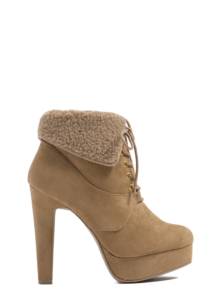 Mountain Top Faux Suede Booties