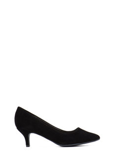 Good Point Faux Suede Kitten Heels