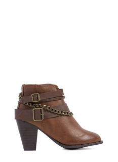 One Chained Melody Chunky Booties