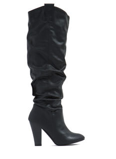 Slouch Factor Chunky Boots