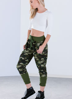 First In Command Banded Camo Joggers